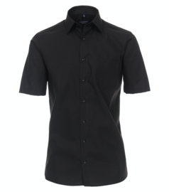 Casa Moda Overhemd korte mouw zwart strijkvrij
