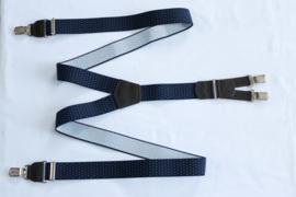 Hendrik gold bretels blauw wit gestipt 145cm