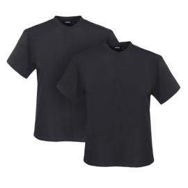 Adamo T-shirt ronde hals Marlon antraciet 2-pack