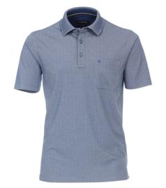 Casa Moda Poloshirt licht blauw gestipt