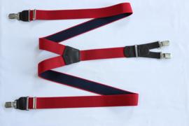 Hendrik gold bretels rood wit gestipt 145cm