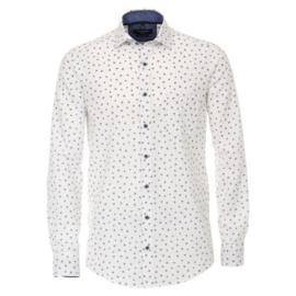 Casa Moda overhemd wit gewerkt