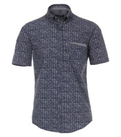Casa Moda Overhemd korte mouw blauw print