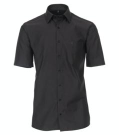 Casa Moda Overhemd korte mouw antraciet strijkvrij