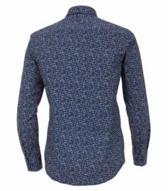Casa Moda overhemd blauw/wit bloemmotief