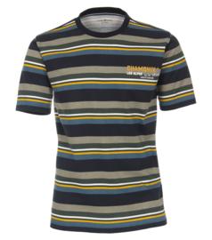 Casa Moda T-shirt petrol gestreept