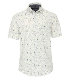 Casa Moda Overhemd korte mouw fish print