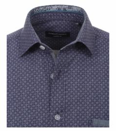 Casa Moda overhemd gewerkt mini print