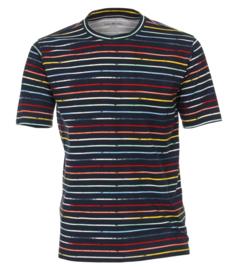 Casa Moda t-shirt blauw gestreept