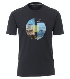 Casa Moda t-shirt antraciet print