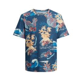 Jack & Jones T-shirt Florall Ensign Blue