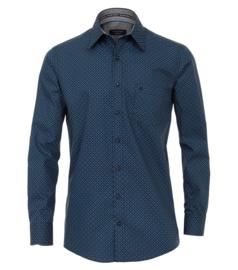 Casa Moda overhemd blauw mini print