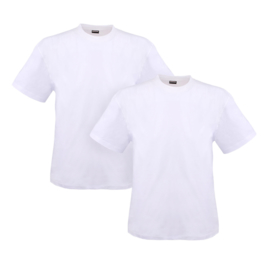 Adamo T-shirt ronde hals Marlon wit 2-pack