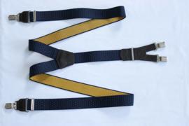 Hendrik gold bretels blauw geel gestipt 145cm