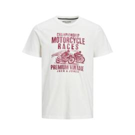 Jack & Jones T-shirt Motor tee white