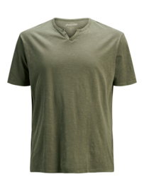 Jack & Jones T-shirt Dusky Green v-hals