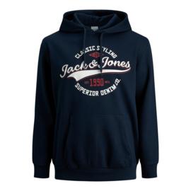 Jack & Jones Logo Sweat hood navy