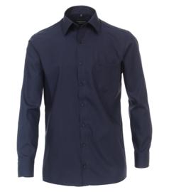 Casa Moda Overhemd Donker blauw strijkvrij