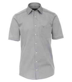 Casa Moda Overhemd korte mouw grijs strijkvrij