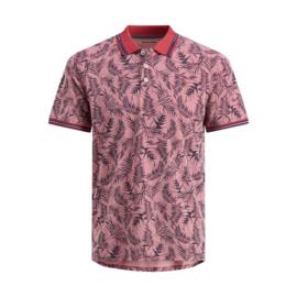 Jack & Jones Poloshirt Florall Brick Red