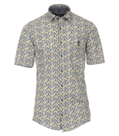 Casa Moda Overhemd korte mouw dots print