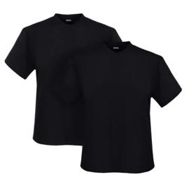 Adamo T-shirt ronde hals Marlon zwart 2-pack