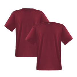 Adamo T-shirt ronde hals Marlon bordeaux 2-pack