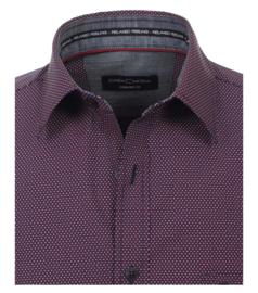 Casa Moda overhemd paars gewerkt