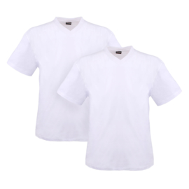 Adamo T-shirt v-hals Maverick wit 2-pack