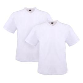 Adamo T-shirt v-hals Maverick wit 2-pack