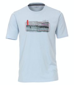 Casa Moda t-shirt licht blauw print
