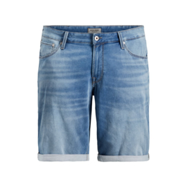 Jack & Jones Jog Denim Jeans Short licht blauw
