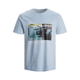 Jack & Jones T-shirt Dusty Blue print