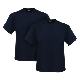 Adamo T-shirt ronde hals Marlon navy 2-pack