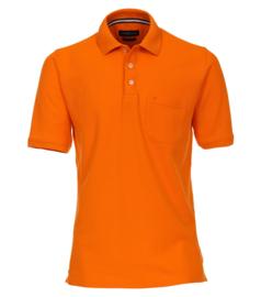 Oranje grote maten poloshirt heren Casa Moda