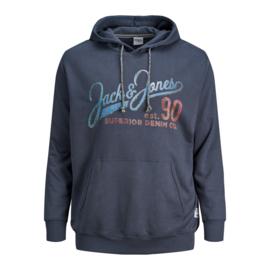 Jack & Jones Hoodie Ombre Blue
