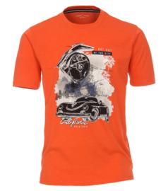 Casa Moda t-shirt oranje print