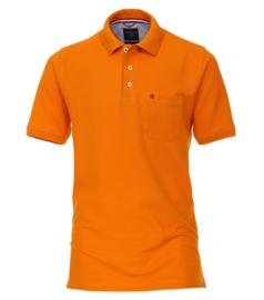 Oranje poloshirt in grote maat Casa Moda