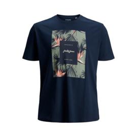 Jack & Jones T-shirt Florall Navy Blazer