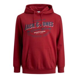 Jack & Jones Logo Sweat hood red