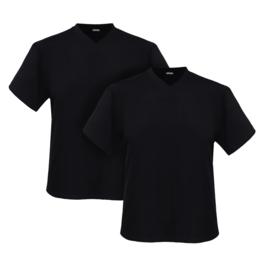 Adamo T-shirt v-hals Maverick zwart 2-pack