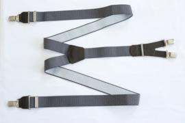 Hendrik gold bretels grijs wit gestipt 145cm