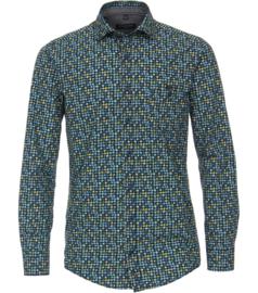 Casa Moda Overhemd blauw gewerkt