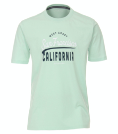 Casa Moda t-shirt turquoise print