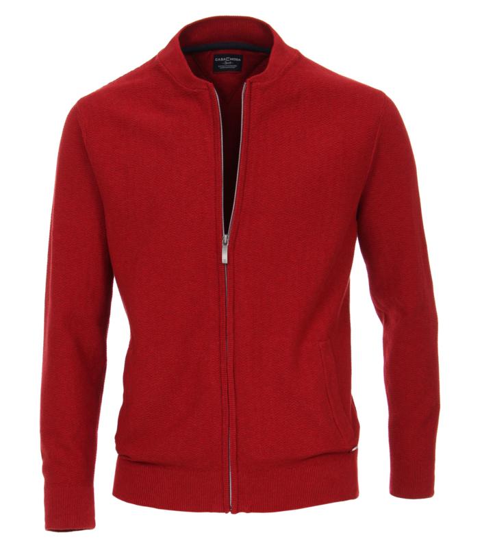 Casa Moda Vest zipper rood