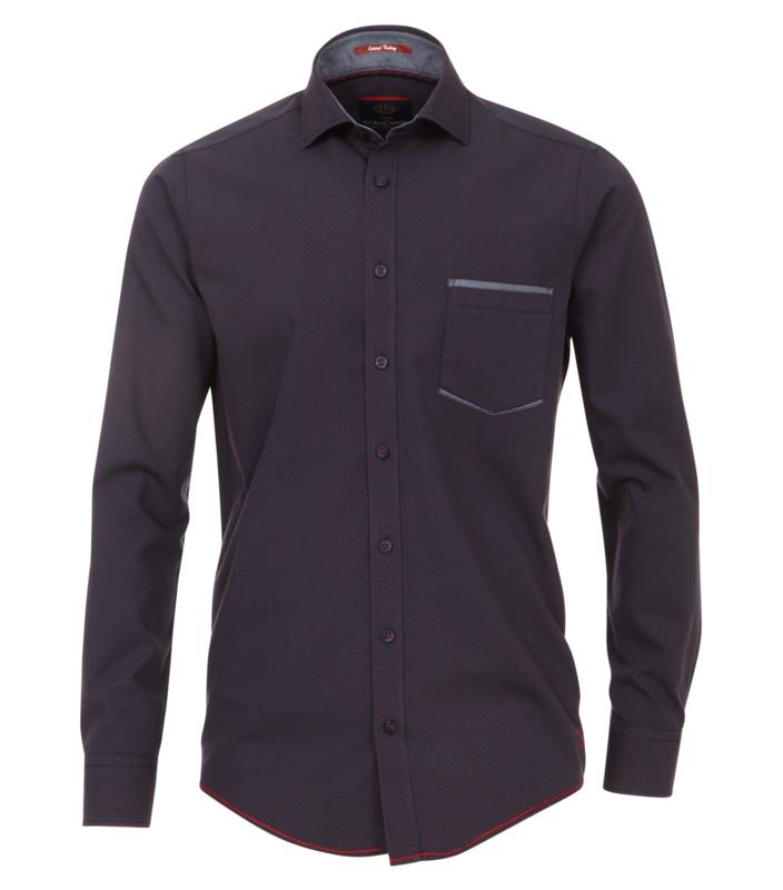 Casa Moda Overhemd donker blauw print