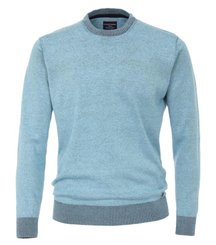 Casa Moda Pullover ronde hals licht blauw