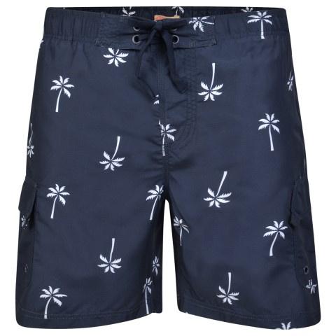 KAM Jeans zwemshort navy palm