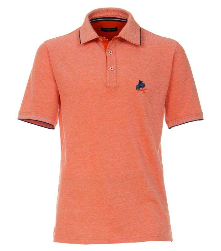 Casa Moda poloshirt korte mouw oranje