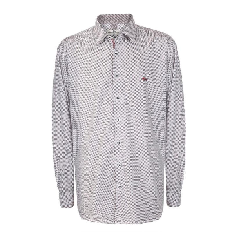 Dario Beltran overhemd Anua-c wit gewerkt